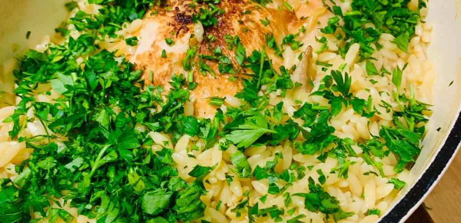 Chicken with Lemon and Orzo